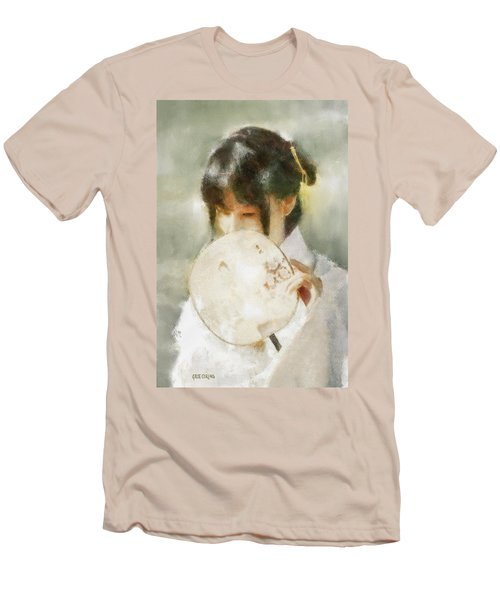 Men's T-Shirt (Athletic Fit) featuring the digital art Demure by Greg Collins