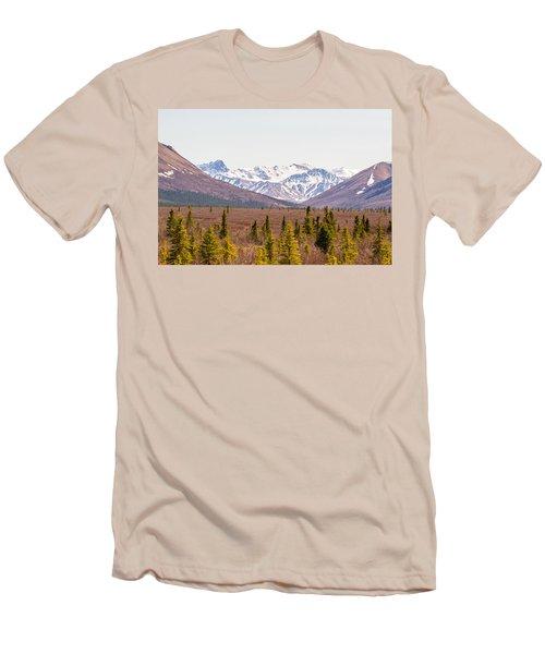 Denali Wilderness Beauty Men's T-Shirt (Slim Fit) by Allan Levin