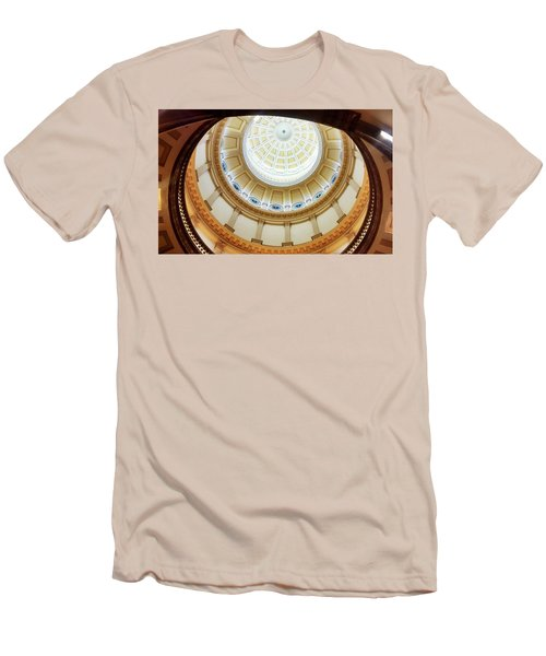 Men's T-Shirt (Slim Fit) featuring the photograph Denver Capitol Dome 1 by Marilyn Hunt