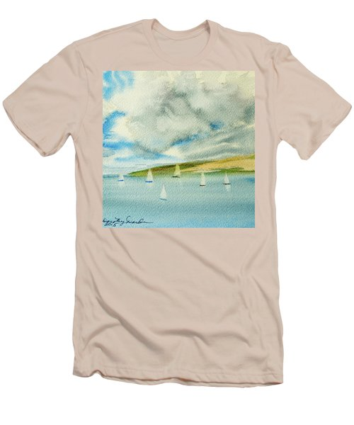 Dark Clouds Threaten Derwent River Sailing Fleet Men's T-Shirt (Athletic Fit)