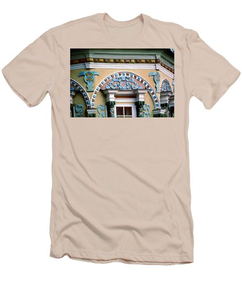 Detail Of Trinity Lavra Of St. Sergius Monastery Sergiev Posad Men's T-Shirt (Slim Fit) by Wernher Krutein