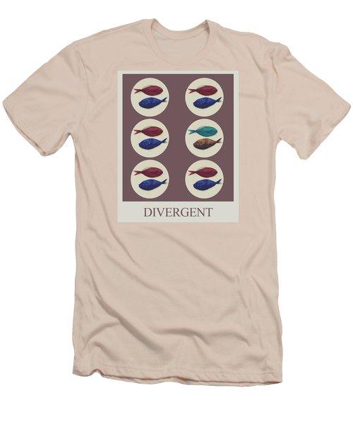 Divergent Men's T-Shirt (Slim Fit) by Galen Valle