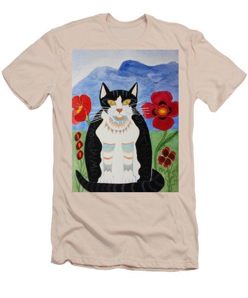 Diwali Tux Cat Men's T-Shirt (Athletic Fit)