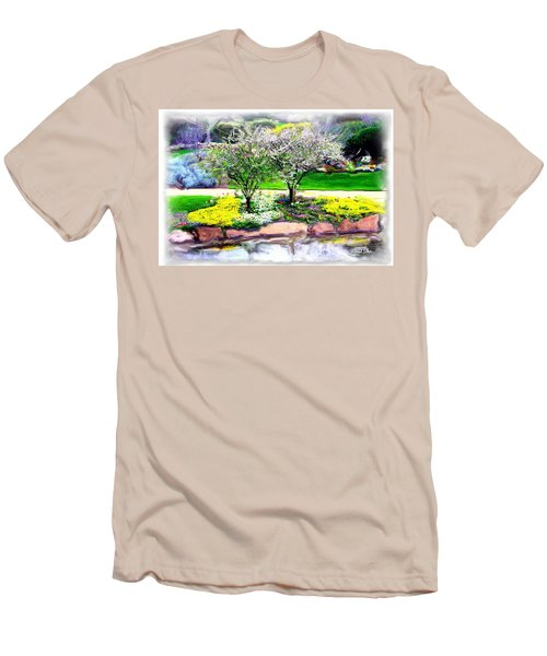 Men's T-Shirt (Slim Fit) featuring the photograph Do-00066 Lake Walk by Digital Oil