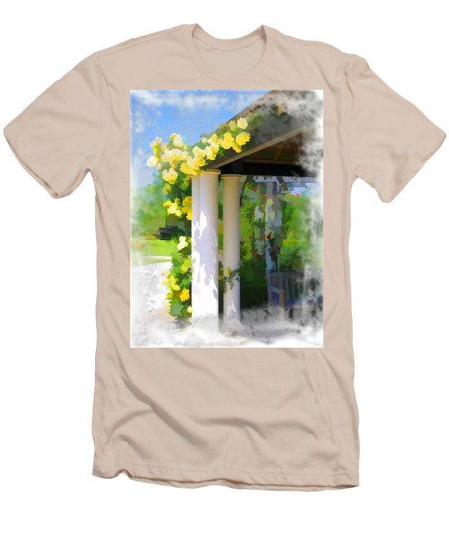 Men's T-Shirt (Slim Fit) featuring the photograph Do-00137 Yellow Roses by Digital Oil