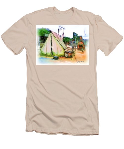 Men's T-Shirt (Athletic Fit) featuring the photograph Do-00139 Tent by Digital Oil