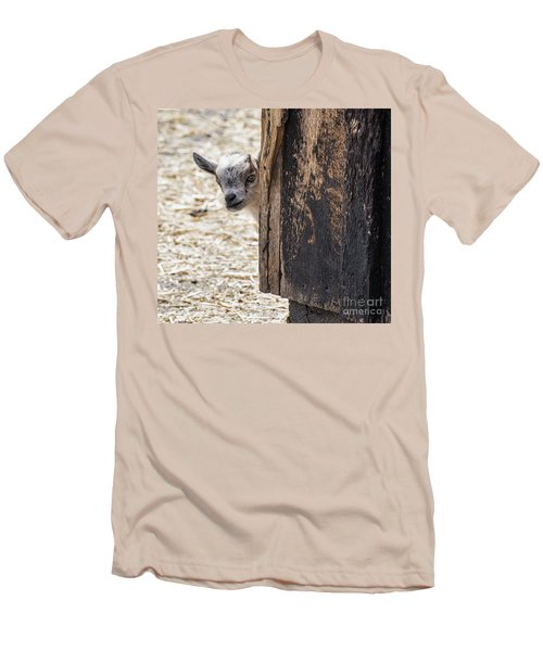 Do You Think Mom Saw Me Men's T-Shirt (Slim Fit) by Judy Wolinsky