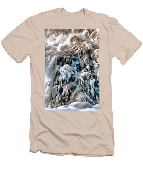 Dog Falls Men's T-Shirt (Slim Fit) by Jim Proctor