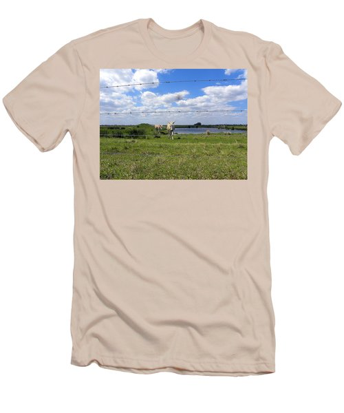 Men's T-Shirt (Slim Fit) featuring the photograph Don't Fence Me In by Chris Mercer