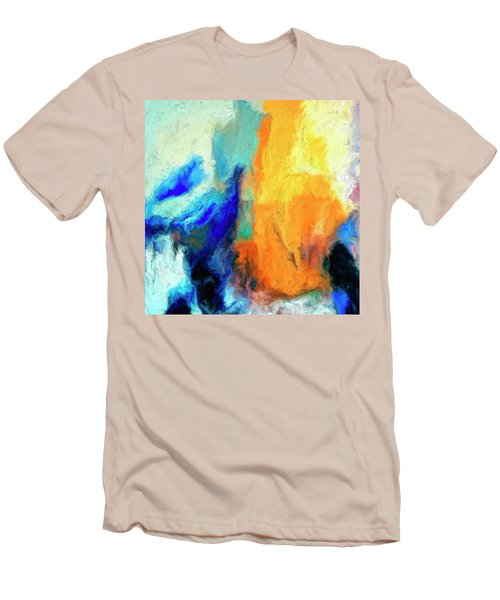 Men's T-Shirt (Slim Fit) featuring the painting Don't Look Down by Dominic Piperata