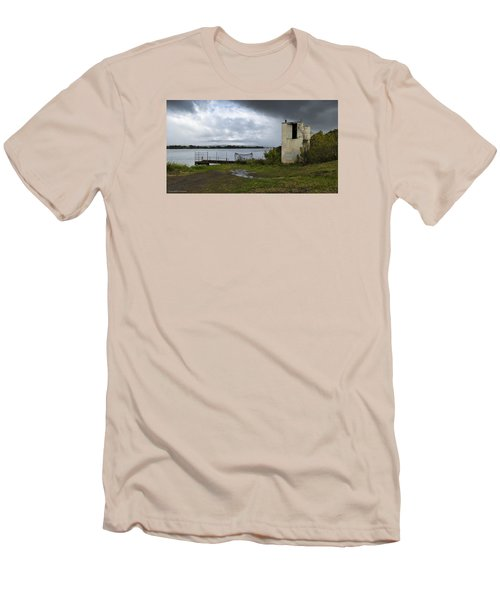 Men's T-Shirt (Slim Fit) featuring the photograph Down By The River 01 by Kevin Chippindall