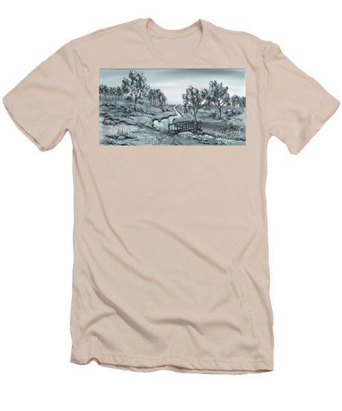 Down Stream Men's T-Shirt (Slim Fit) by Kenneth Clarke