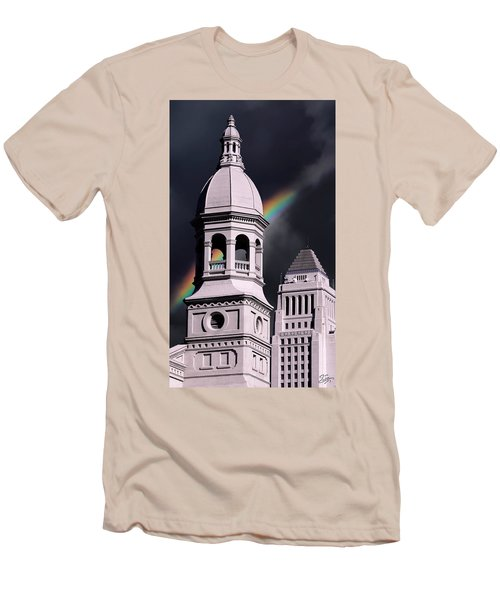 Downtown Buildings Men's T-Shirt (Athletic Fit)
