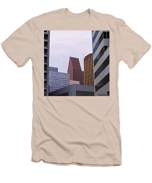 #downtown #houston On A Gloomy Cold Men's T-Shirt (Athletic Fit)