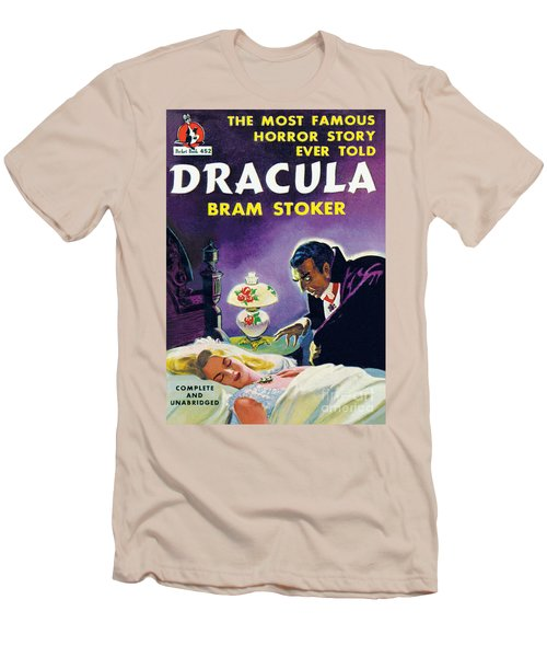 Men's T-Shirt (Slim Fit) featuring the painting Dracula by Unknown Artist