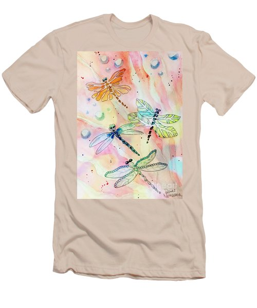 Men's T-Shirt (Athletic Fit) featuring the painting Dragon Diversity by Denise Tomasura