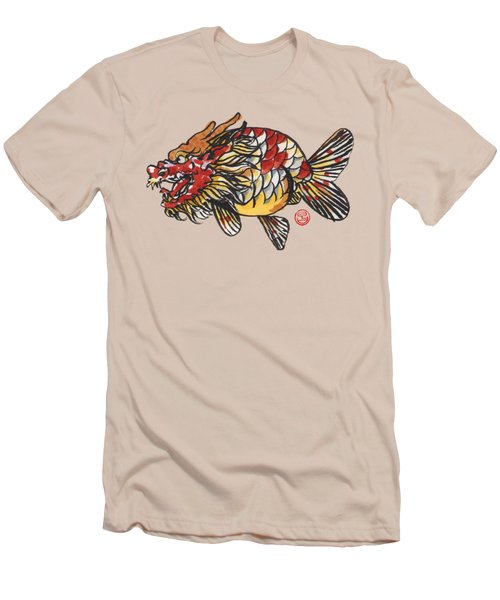 Dragon Ranchu Men's T-Shirt (Slim Fit) by Shih Chang Yang