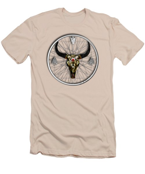 Men's T-Shirt (Slim Fit) featuring the digital art Dream Guardian by Iowan Stone-Flowers