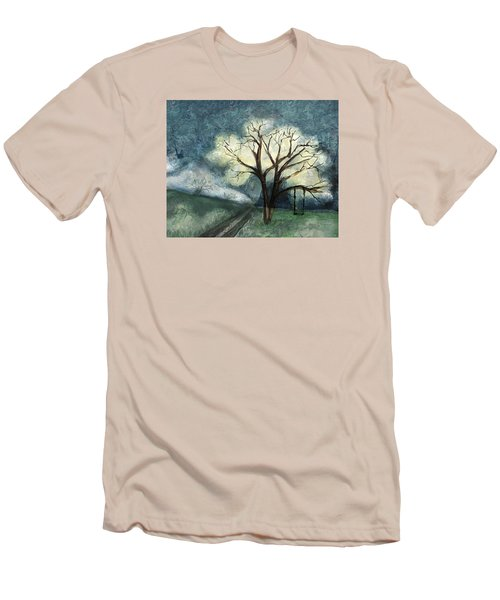 Men's T-Shirt (Slim Fit) featuring the painting Dream Tree by Annette Berglund