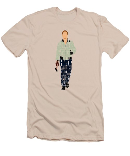 Men's T-Shirt (Slim Fit) featuring the drawing Driver - Ryan Gosling by Ayse Deniz