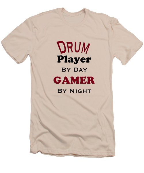 Drum Player By Day Gamer By Night 5625.02 Men's T-Shirt (Athletic Fit)