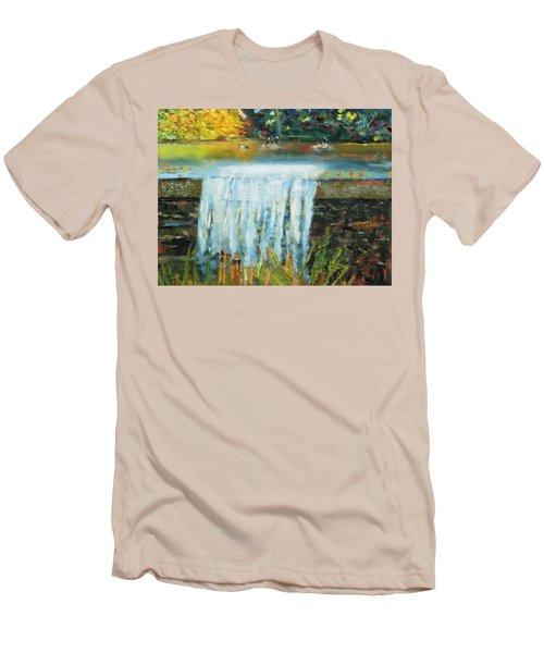 Ducks And Waterfall Men's T-Shirt (Slim Fit) by Michael Daniels