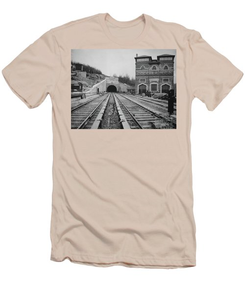 Men's T-Shirt (Athletic Fit) featuring the photograph Dyckman Street Station by Cole Thompson