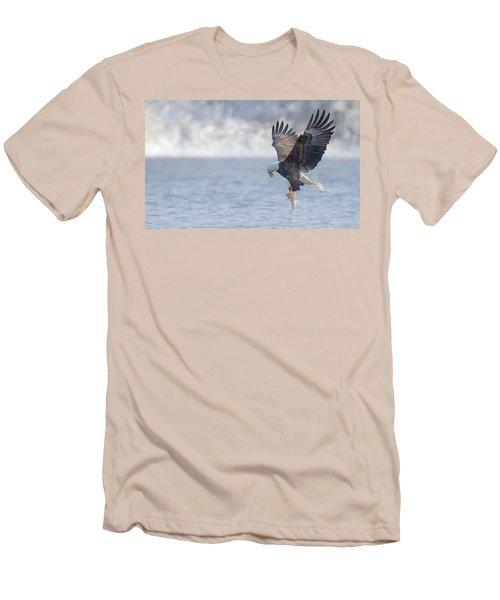 Eagle Fishing  Men's T-Shirt (Slim Fit) by Kelly Marquardt