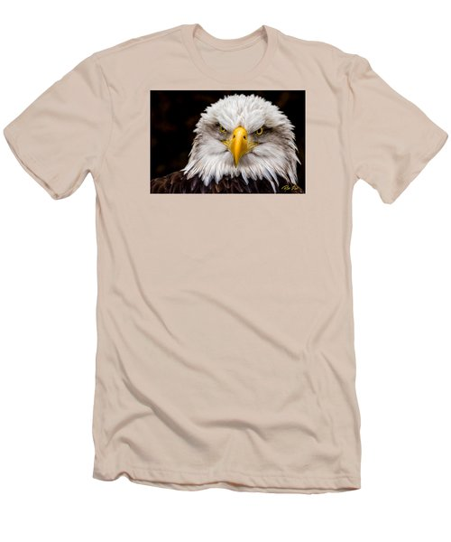 Defiant And Resolute - Bald Eagle Men's T-Shirt (Slim Fit) by Rikk Flohr