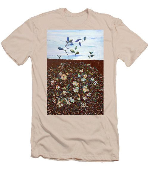 Early Cotton  Men's T-Shirt (Slim Fit) by Erika Pochybova