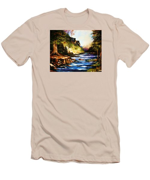 Early Dawn Campfire Men's T-Shirt (Slim Fit) by Al Brown