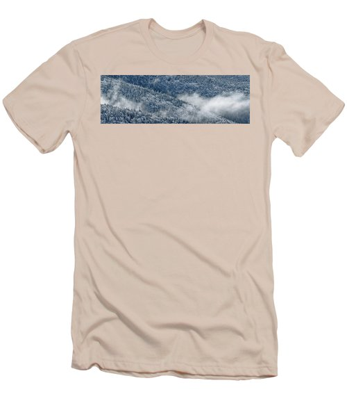 Early Morning After A Snowfall Men's T-Shirt (Slim Fit) by Sebastien Coursol