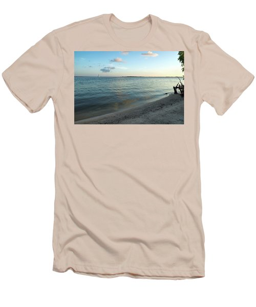 Men's T-Shirt (Athletic Fit) featuring the photograph Early Morning Reflections by John M Bailey