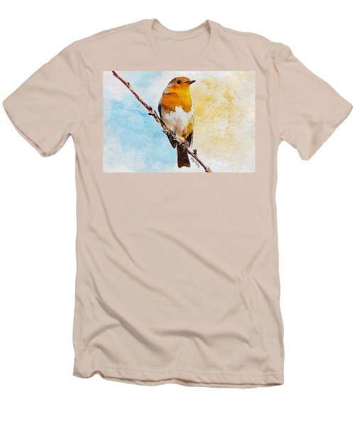Men's T-Shirt (Slim Fit) featuring the painting Early Spring by Greg Collins