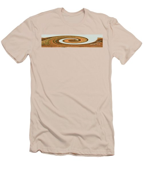 Men's T-Shirt (Athletic Fit) featuring the digital art Earthtones - Modern Contemporary Art by Merton Allen
