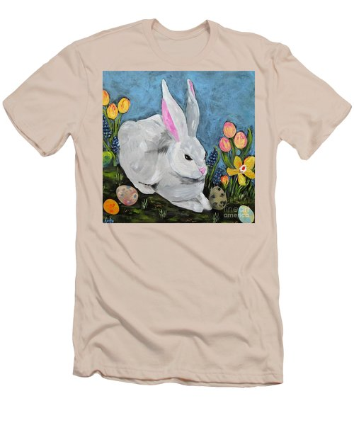 Easter Bunny  Men's T-Shirt (Slim Fit) by Reina Resto