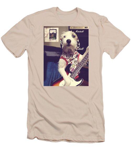 Eddie Plays Guitar Men's T-Shirt (Slim Fit) by Richard Reeve