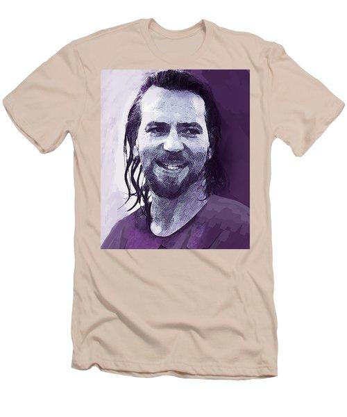Eddie Vedder Pearl Jam  Men's T-Shirt (Slim Fit) by Enki Art