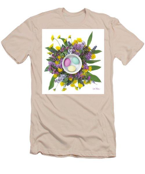 Men's T-Shirt (Slim Fit) featuring the digital art Eggs In A Bowl by Lise Winne