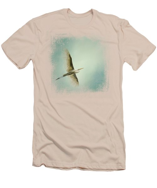 Egret Overhead Men's T-Shirt (Slim Fit) by Jai Johnson