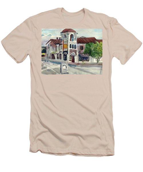 El Camino Real In San Carlos Men's T-Shirt (Slim Fit) by Donald Maier