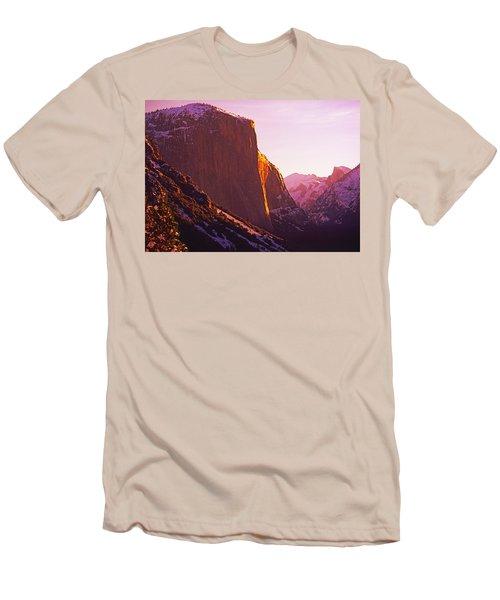 El Capitan And Half Dome, Yosemite N.p. Men's T-Shirt (Athletic Fit)