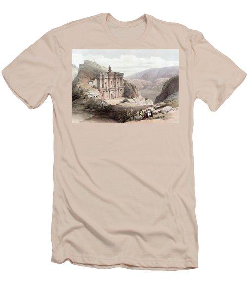 El Deir Petra 1839 Men's T-Shirt (Slim Fit) by Munir Alawi