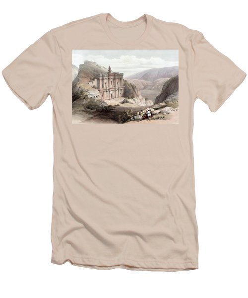El Deir Petra 1839 Men's T-Shirt (Athletic Fit)