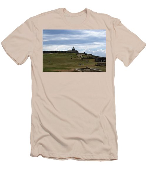 Men's T-Shirt (Slim Fit) featuring the photograph El Morro by Lois Lepisto