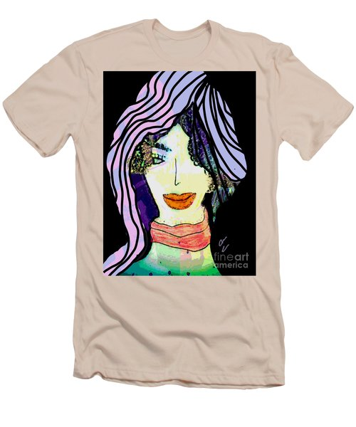 Men's T-Shirt (Athletic Fit) featuring the mixed media Elaine by Ann Calvo
