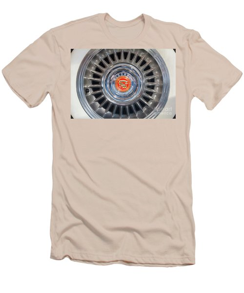 Men's T-Shirt (Slim Fit) featuring the photograph Eldorado Hubcap by Dennis Hedberg