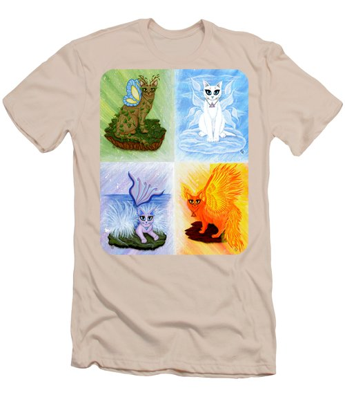 Elemental Cats Men's T-Shirt (Slim Fit) by Carrie Hawks