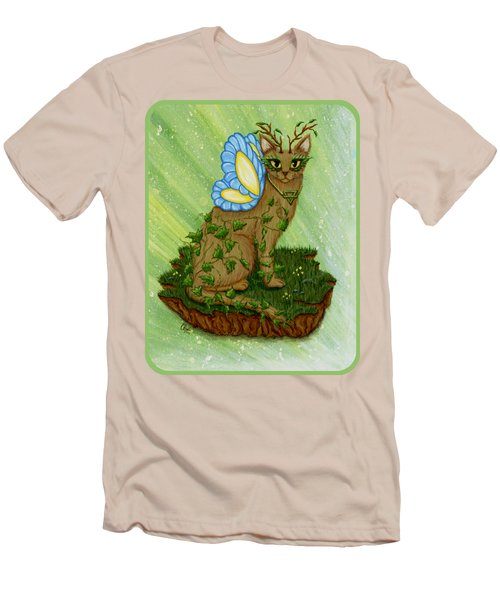 Elemental Earth Fairy Cat Men's T-Shirt (Athletic Fit)