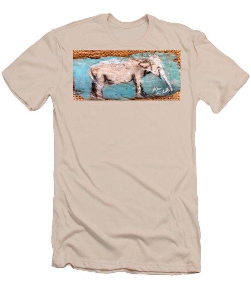 Elephant Men's T-Shirt (Slim Fit) by Ann Michelle Swadener